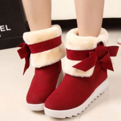 Lovely Bowknot Warm Winter Snow Boots Shoes