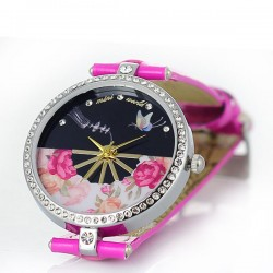 Fresh Floral Butterfly Rhinestone Watch