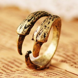 Retro Eagle Claw  Rings Jewelry