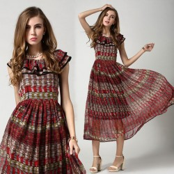 Charming Stylish Ladies Layered Chiffon Dress