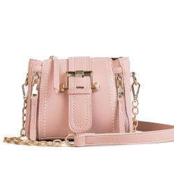 Elegant Chain Messenger Bag Double Vertical Zipper Lady Single Buckle Shoulder Bag