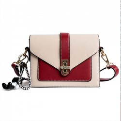 Fashion Contrast Color Diamond Buckle Messenger Bag Women Shoulder Bag