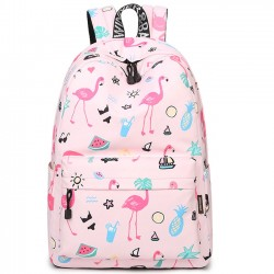 Cute Fruit  Animal Vegetable Carrot Watercolour Flower Painting Girls School Canvas Student Backpack