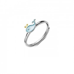 Cute Little Whale Dolphin Fish Girl Animal Open Ring