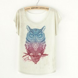 Lovely Owl Animal Printed T-Shirt