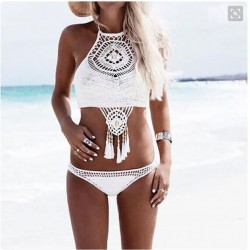 Handmade Crochet Swimsuit Sexy Bikini Swimwear Bathingsuit