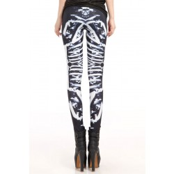 Fashion Stretch Skeleton Printing Leggings