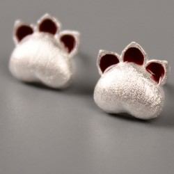 Cute Cat Earrings Sterling 925 Silver Kitten Animal Earring Studs