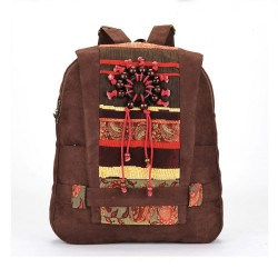 Retro Handmade Wooden Bead Backpack