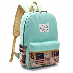 Fresh Splice Star Grid School Canvas Backpacks
