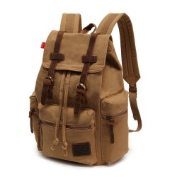 Retro Brown Scrub Canvas Backpack