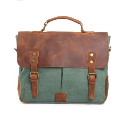 Retro Canvas With Good Leather Handbag&Messenger Bag
