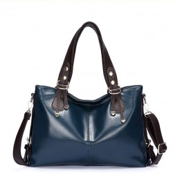 Casual Fashion Oil Wax Leather Ladies Dermis Handbag