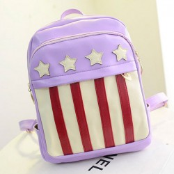 American Flag Striped Leather Backpack