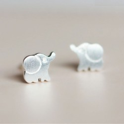 Fresh Fashion Lovely  Elephant S925 Sterling Earring
