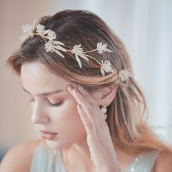 New Unique Flower Branch Handmade Bridesmaid Hair Band Bride Hair Accessories