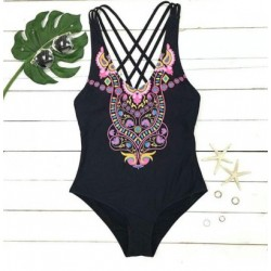 Lovely Owl Print Swimwear Cross Straps Bikini One-piece Swimsuit