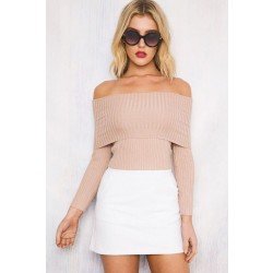 Fashion Women's Off The Shoulder Knit Sweater 6 Colors