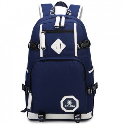 Retro Oxford Waterproof Large Capacity Belt College Bag Leisure Travel Canvas School Backpack