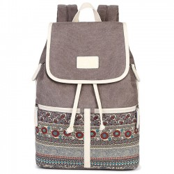 Folk College Ladies Totem Canvas Bag Leisure Student Backpack