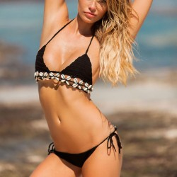 Sexy Weave Shell Bikini 2 Pieces Beach Sling Women's Swimwear