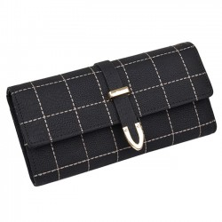 Retro Scrub Women's Tri-Fold Arrow Embroidered Long Wallet Purse Clutch Bag