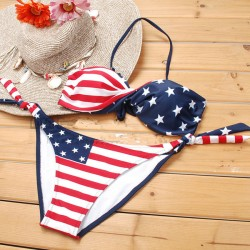New Sexy American Flag Stripes Bikini Hot Swimsuits
