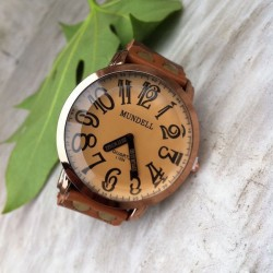 Retro Convex Handmde Leather Watch