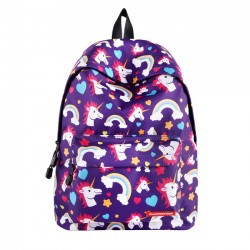 Cute Unicorn Girl Rainbow Pony Cartoon Middle School Student Bag Backpack