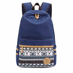 Folk Style Pure Irregular Printed Geometry Canvas Backpack
