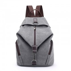 Leisure Folds Single Buckle Multi-function Canvas School Backpack