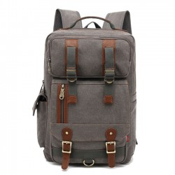 Leisure Multi-function Canvas Backpack Large Men's Outdoor Travel Rucksack