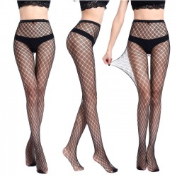 Sexy Fishnet Thin Hollow Flower High Waist Women Stockings