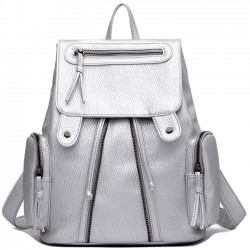 Leisure Simple Women's Rucksack Leather Shoulder School Bag Travel Backpack