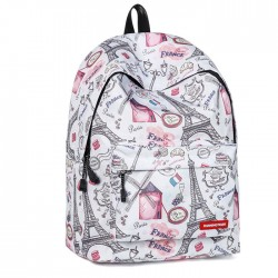 New Cartoon Eiffel Tower Windmill Student Bag Large Ink Tower School Backpack
