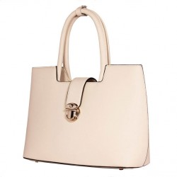 Elegant Cream Atmosphere Arrow Leather Handbag