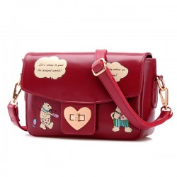 Lovely Bear Cartoon Messenger Bag Shoulder Bag