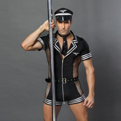 Sexy Uniform Seduction Bar Nightclub Captain Pilot Costumes Prformance clothing Cosplay Men's Lingerie