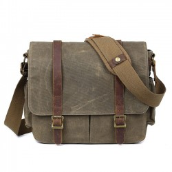Retro Waterproof Outdoor Camera Bag Men's Large Canvas Shoulder Bag