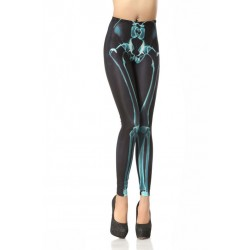Unique Drain Bones Printed Leggings