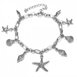 Leisure Ocean Style Starfish Conch Shell Foot Jewelry Summer Anklet