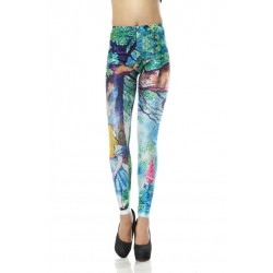 Fashion Cheshire Cat Printed Leggings