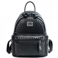 Leisure Rivet Women Small Soft PU Lady Backpack