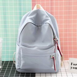 Fresh Waterproof Lightweight College Literary Solid Color School Bag Student Backpack
