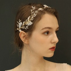 Leisure Leaves Hair Band Crystal Bridal Tree Branch Wedding Hair Accessories