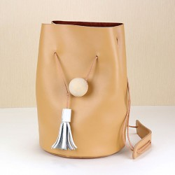 Creative Simple Retro Leather Shoulder Bucket Bag&Shoulder Bag