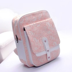 Sweet Pink Lace Embroidered good Backpack