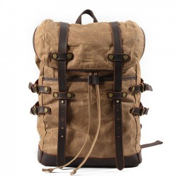 Retro Men's Leisure Waterproof Rucksack Outdoor Travel Backpack