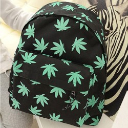 Unique Maple Leaf Canvas Backpack