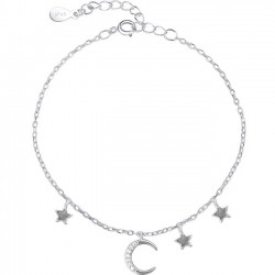 Lovely Moon Star Silver Bracelet Friend Gift Accessories Women Bracelet